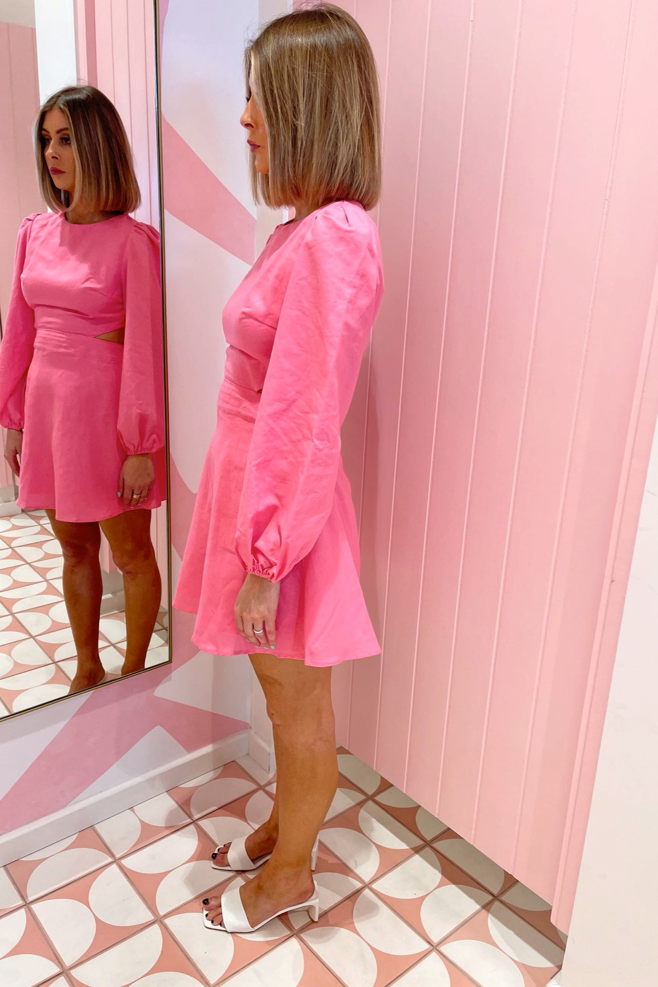 Porschia Dress - Bubblegum