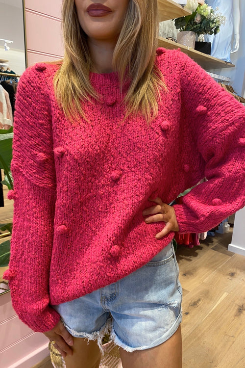Bentley Sweater - Hot Pink
