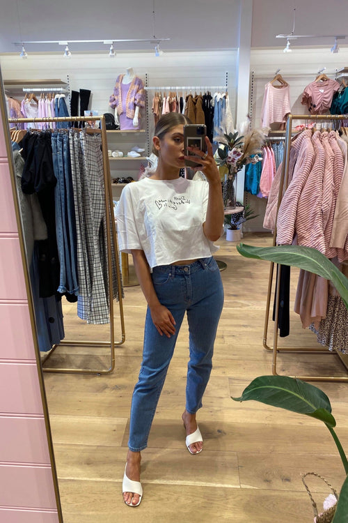 A Oversized Cropped Tee - Girls