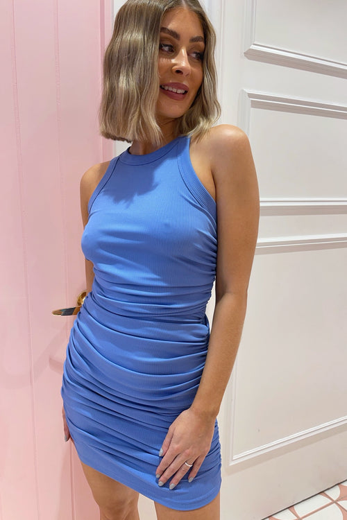 Ava Dress - Steel Blue