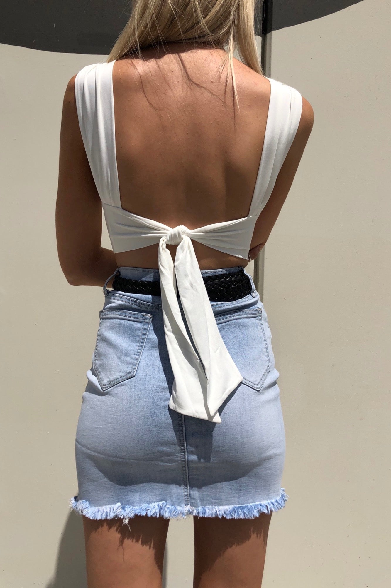 Elm Crop - White