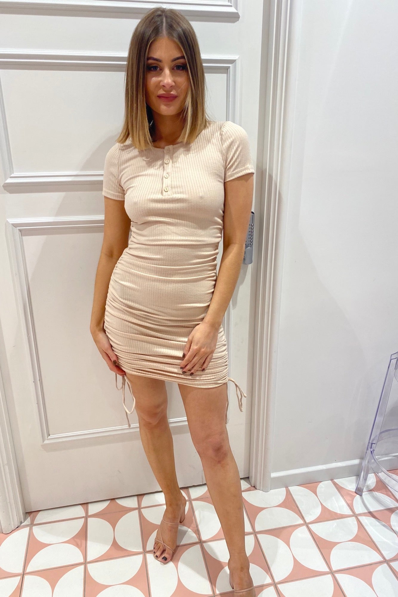 Janie Dress - Beige