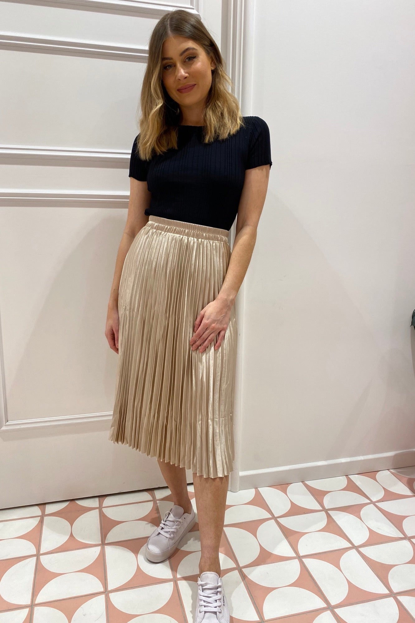 Gold Digger Skirt - Pale Gold