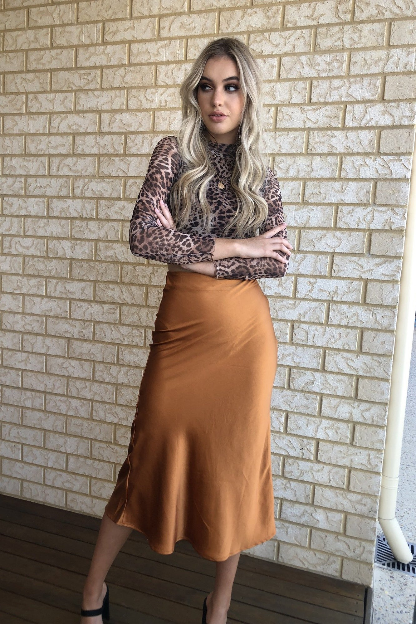 Ocean Deep Skirt - Rust