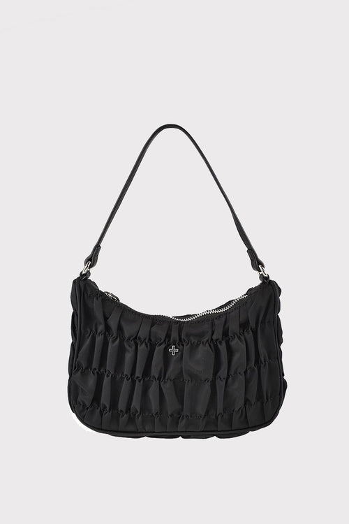 Tyra Shoulder Bag - Black Nylon