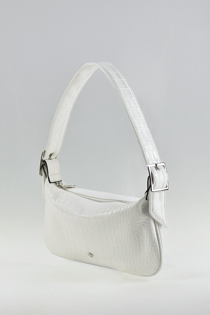 Salem Bag - White Croc