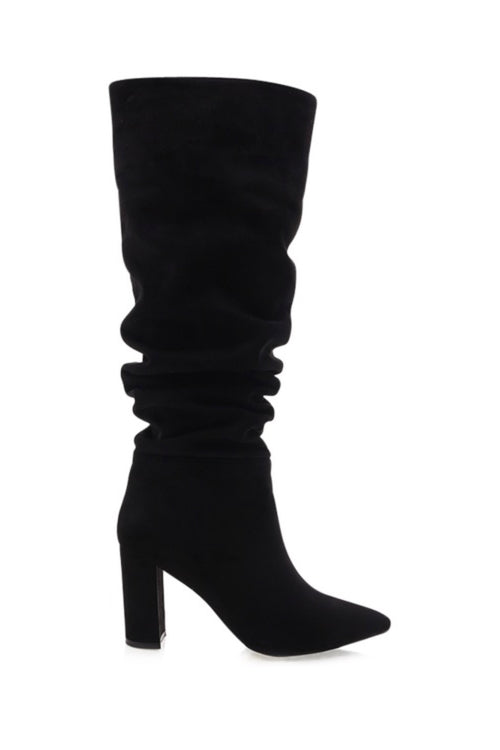 Willow Boot - Black Suede