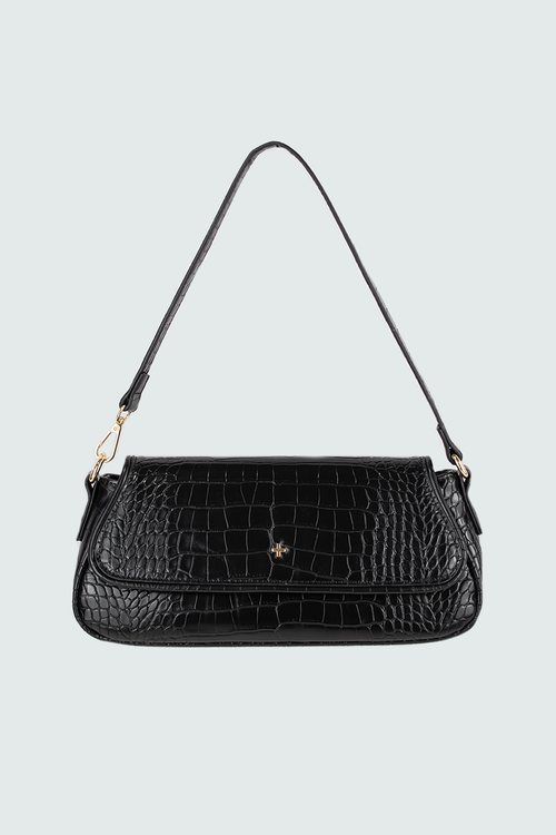 Agatha Bag - Black Croc