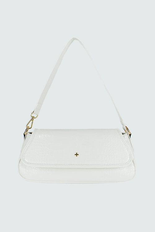 Agatha Bag - White Croc