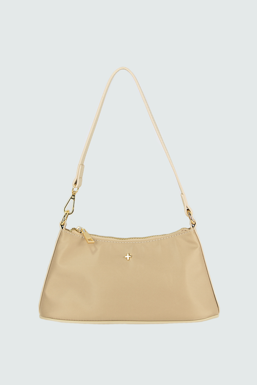 Danni Shoulder Bag - Beige Nylon