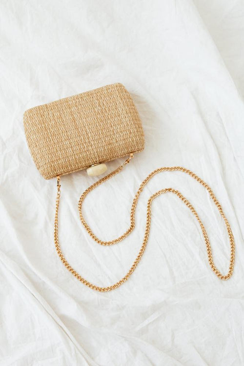 Malibu Clutch - Natural Raffia