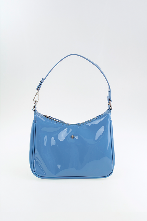 Totti Shoulder Bag - Blue Patent
