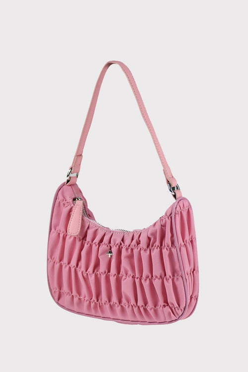 Tyra Shoulder Bag - Pink Nylon