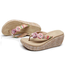 Slides with Flowers Outdoor Slippers Slip-on Causal for Beach