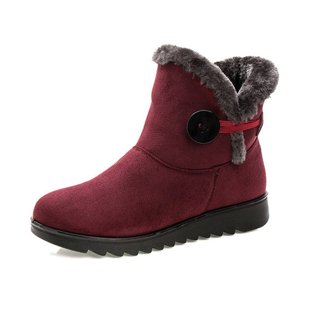Winter Women Boots Flock Warm Ankle Snow Platform