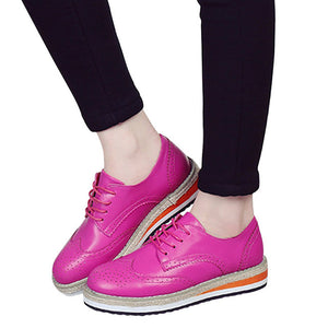 Brogue Candy Colors Platform Oxfords British Style