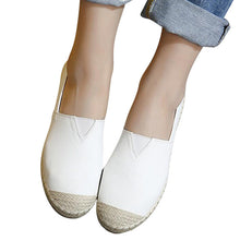 Loafers Weave Straw Ballet Flats Casual Fisherman Slip On