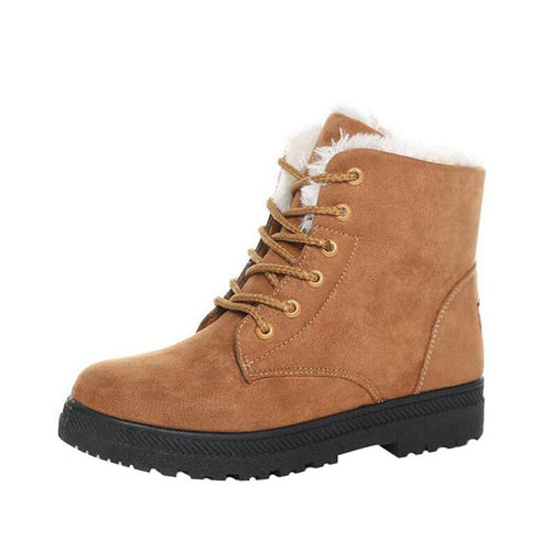 British Style Snow Boots Winter Warm Lace-up