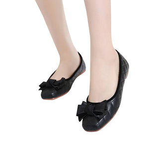 Flowers Creepers Bow tie Flats Square Toe Loafers Comfort Slip On Casual