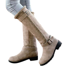 Metal Decoration High Fashion Boots Women Winter Knee-High