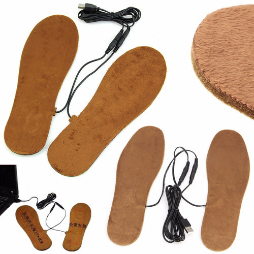USB Electric Powered Heated Insoles For Shoes Keep Feet Warm For Women Men