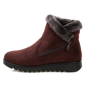Winter ankle casual fashion flat warm snow boots