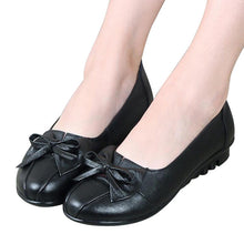 Leather Low Heel Shoes Casual Spring Slip On Platform