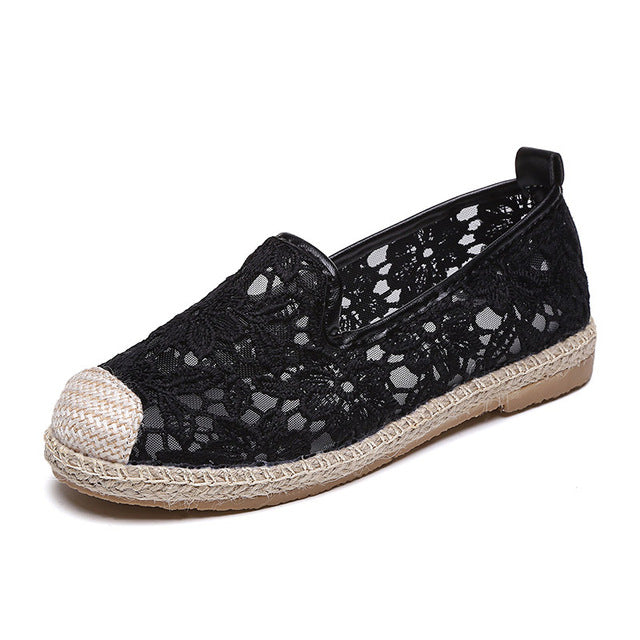 Lace Loafers Casual Platform Fisherman Comfortable Slip On Flats