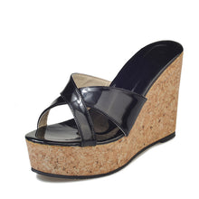 Solid Platform  Slip On Wedges Beach Summer Casual