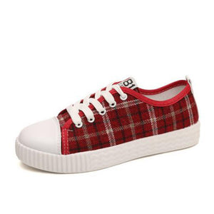 Canvas Casual Flats Vulcanized Shoes