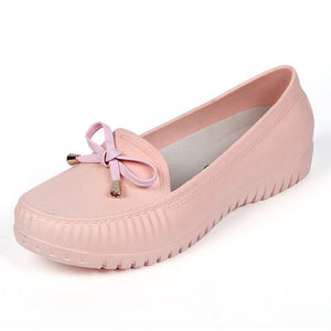 Waterproof Bow-tie Loafers Sweet Candy Colors Flats