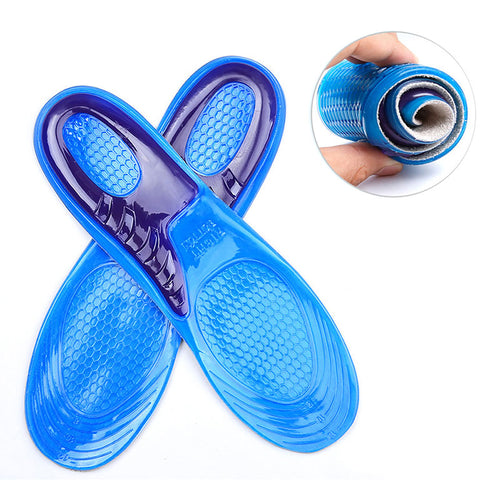 Sport shoes Insole pad arch support massaging anti-Slip soft shock absorption silicone gel Insoles