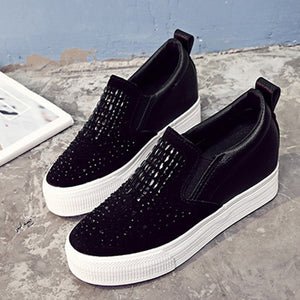 Fashion Flats Bling Vamp Loafers Summer&Autumn Women Sneakers Slip-on Causal