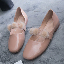 Poms Creepers Flats square Toe Loafers Comfort Slip On Casual