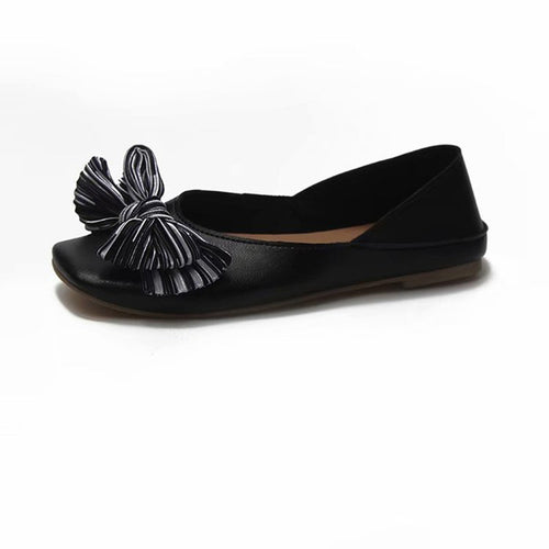 Flats Bow-cot Decoration Summer&Autumn Slip-on Causal