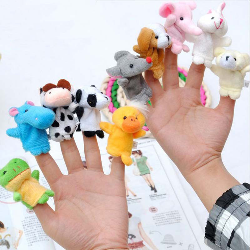 10 Piece Animals Finger Puppets