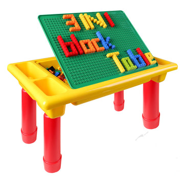 3 in 1 Building Blocks Table (200 blocks)