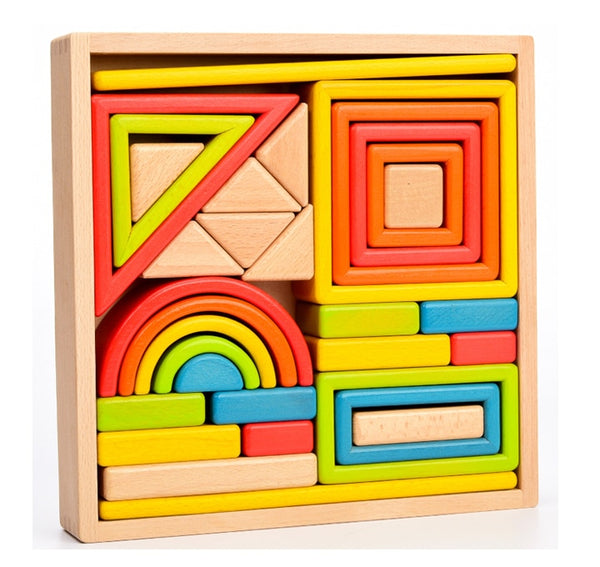 Large Rainbow Stacking Blocks