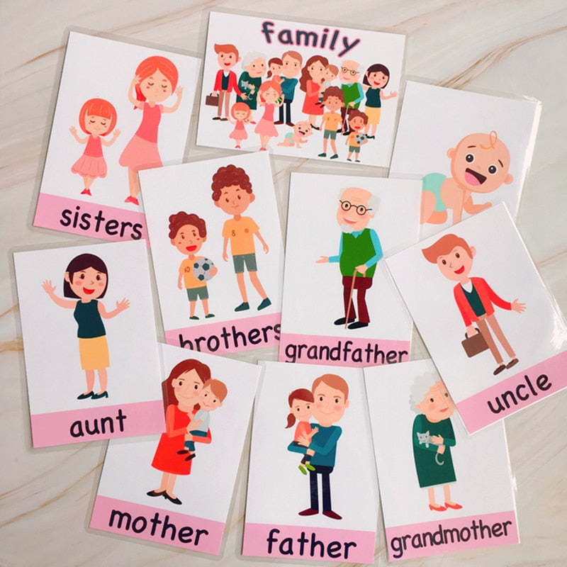 Flashcards (Colour, Shape, Weather, Family )