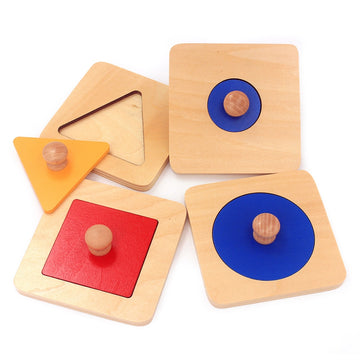 Montessori Hand Grasp Geometry Shape Insets Set ( 4 Piece )