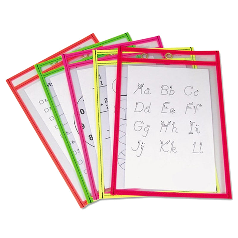 5 piece Reusable Workbook Pockets and Wipe Pens