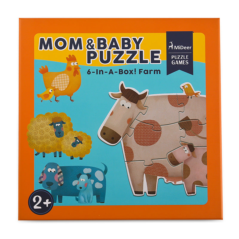 Mom And Baby Animal Puzzle