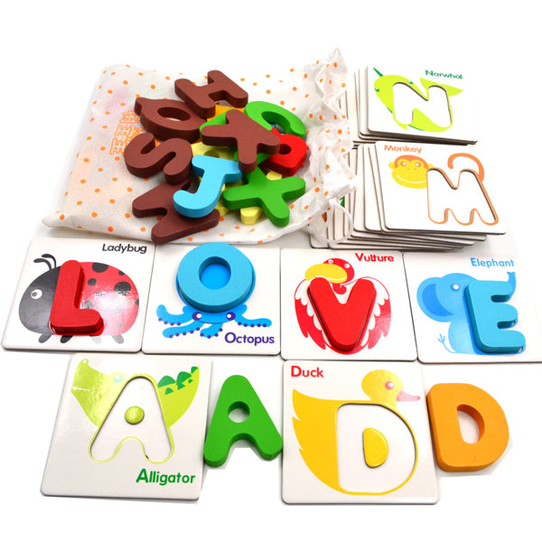 Wooden Alphabet Cards