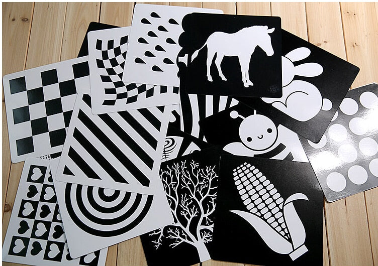 Black and White Visual Training Cards