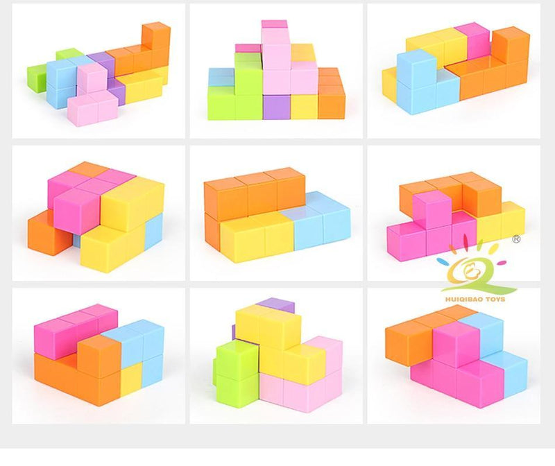 Magnetic Cube Blocks with Cards