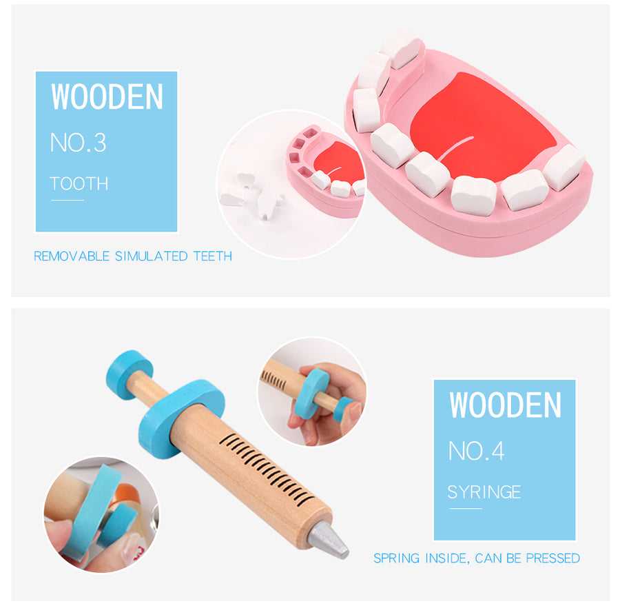Wooden Doctor Set (Dentist + Nurse too)