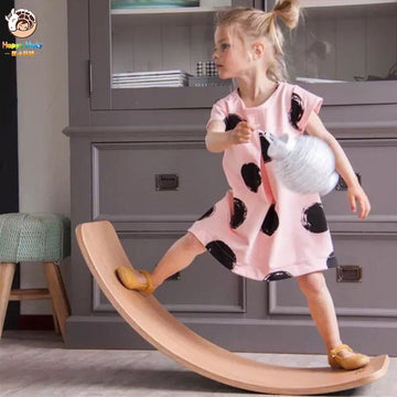 Wooden Curved Balance Board