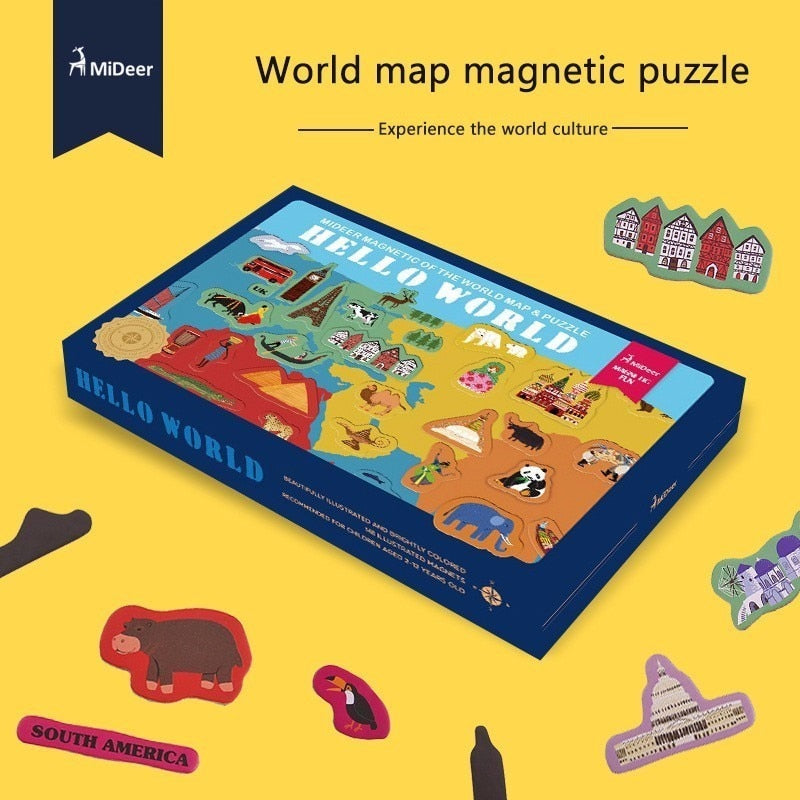 Hello World Magnetic Puzzle