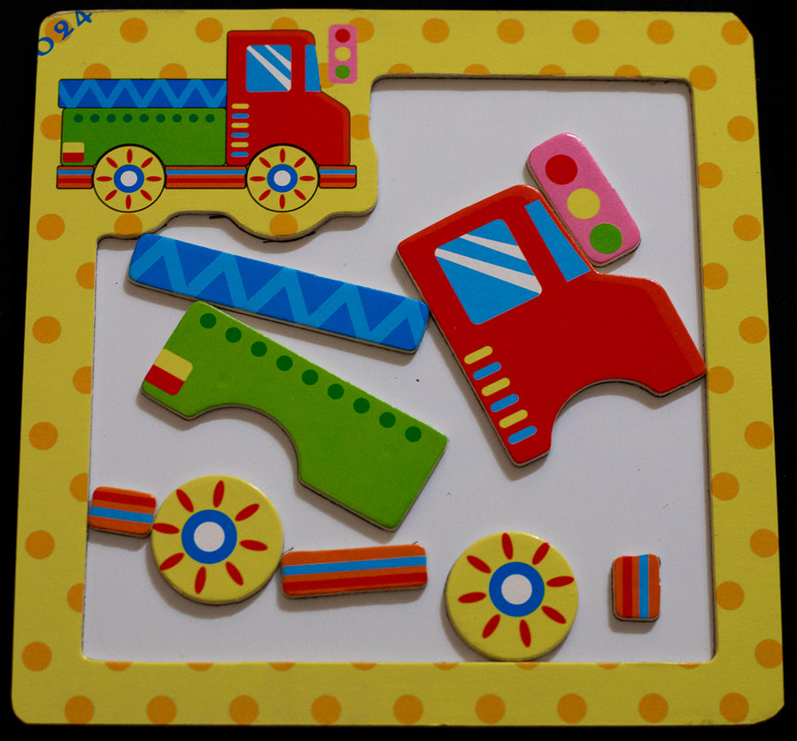 3D TRAFFIC MAGNETIC PUZZLE (SET OF 3)