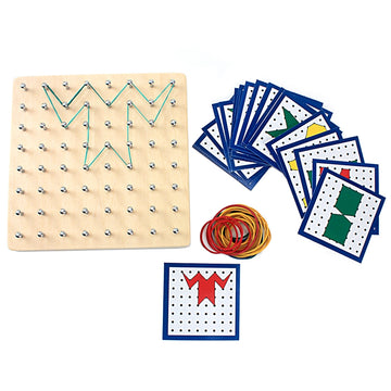 Montessori Wooden Rubber Band Card Game